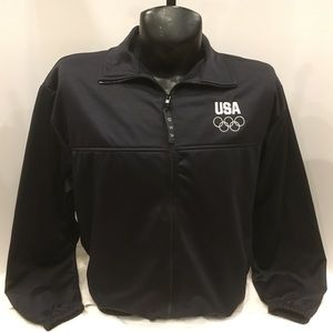 Adult USA Olympic Dark Blue Zippered Jacket